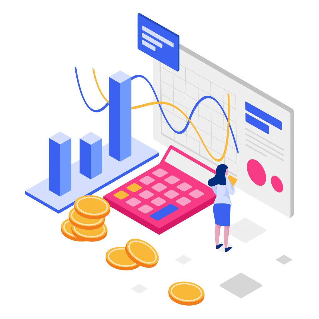 Pngtree—cost per acquisition isometric illustration 4180683
